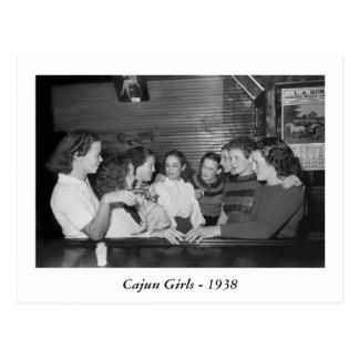 Cajun Girls, 1938 Postcard