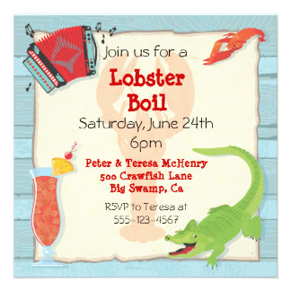 Cajun Lobster Boil Party Invitation