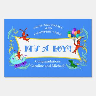 Cajun New Baby Boy Yard Sign