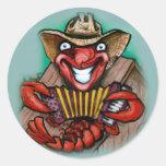 Cajun Round Sticker