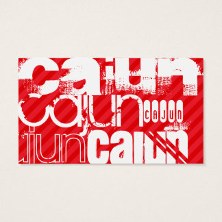 Cajun; Scarlet Red Stripes Business Card