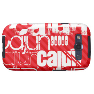 Cajun; Scarlet Red Stripes Galaxy SIII Cover