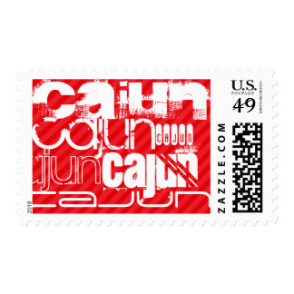 Cajun; Scarlet Red Stripes Postage