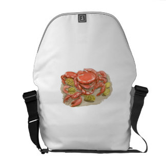 Cajun Seafood Watercolor Messenger Bag