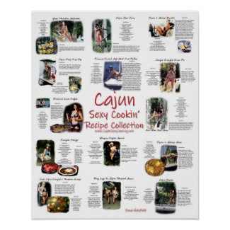 Cajun Sexy Cooking Recipe Collection Poster 16x20