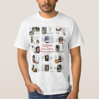 Cajun Sexy Cooking Recipe Collection T-Shirt