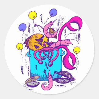Cajun Style Classic Round Sticker