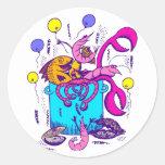Cajun Style Round Stickers