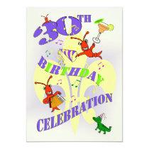 Cajun Themed 30th Birthday Party Invitation