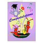 Cajun Themed Crawfish Graduation Card