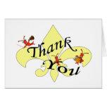 Cajun Themed Crawfish Thank You Greeting Cards