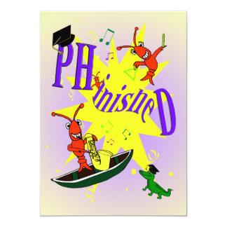 Cajun Themed Ph.d Party Invitation