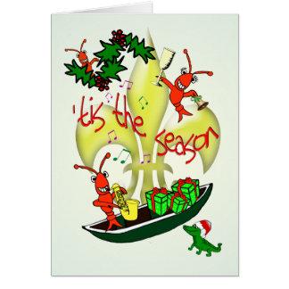 Cajun Themed 'Tis the Season Christmas Card