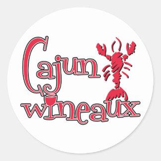Cajun Wineaux crawfish red Classic Round Sticker