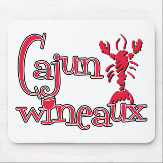 Cajun Wineaux crawfish red Mouse Pad