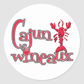 Cajun Wineaux crawfish red Round Stickers