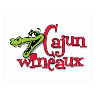 Cajun Wineaux gator Postcard