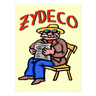 Cajun Zydeco Man Postcard