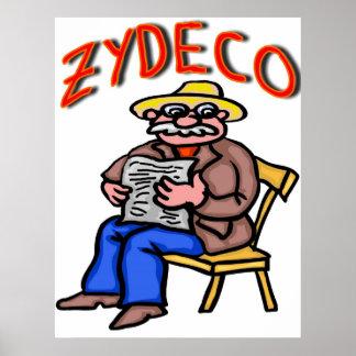 Cajun Zydeco Man Poster