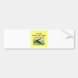 cajuns pegatina de parachoque