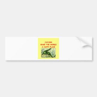 cajuns del cajun etiqueta de parachoque