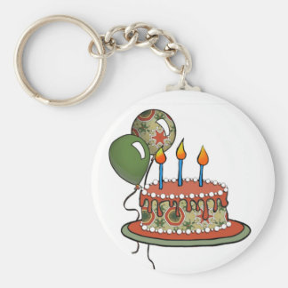 Cake-002 Red Green Olive Key Chains
