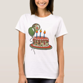 Cake-002 Red Green Olive T-Shirt