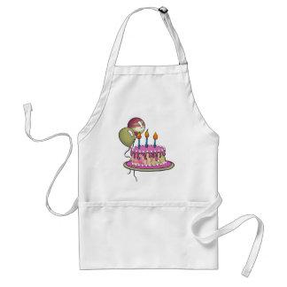 Cake-012 Magenta Marble Adult Apron