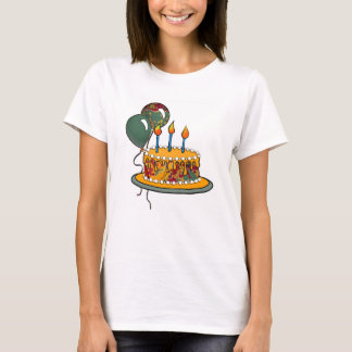 Cake-016 Red Gold Green T-Shirt