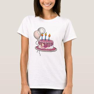 Cake-018 Rose Pink Maroon T-Shirt