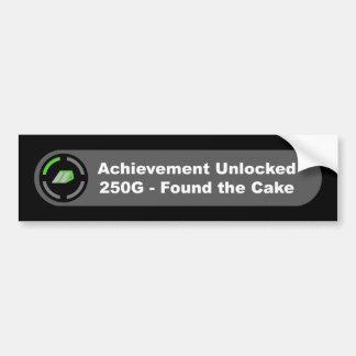 Cake - Achievement Unlocked Car Bumper Sticker