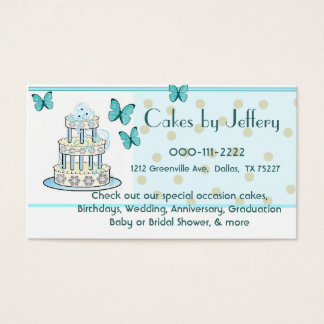 Cake and Butterflies Bakery Business Card