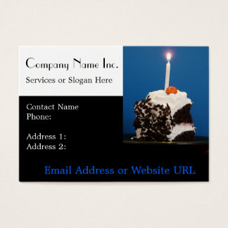 Cake and Candle for Bakery or Caterer Business Card