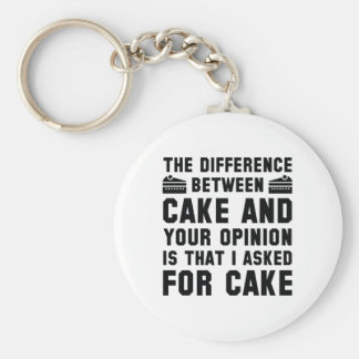 Cake And Your Opinion Keychain