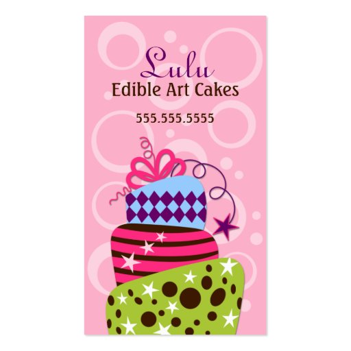 Cake Art Bakery Business Cards (front side)