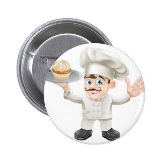 Cake baker pinback button