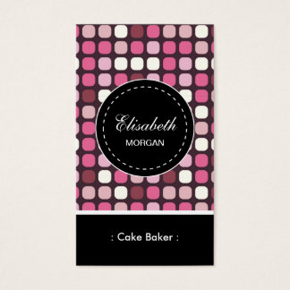 Cake Baker- Pink Polka Pattern Business Card