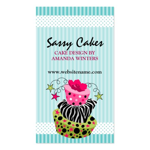 Cake Bakery Business Cards (front side)