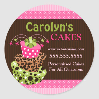 Cake Bakery Business Stickers