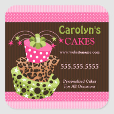 Cake Bakery Business Stickers at Zazzle