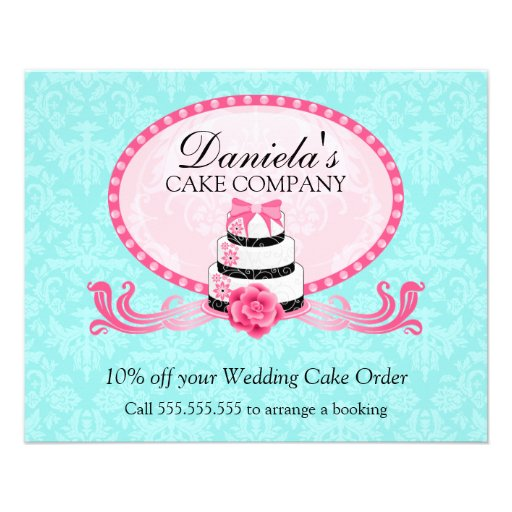 Cake Bakery Discount Voucher Full Color Flyer Zazzle
