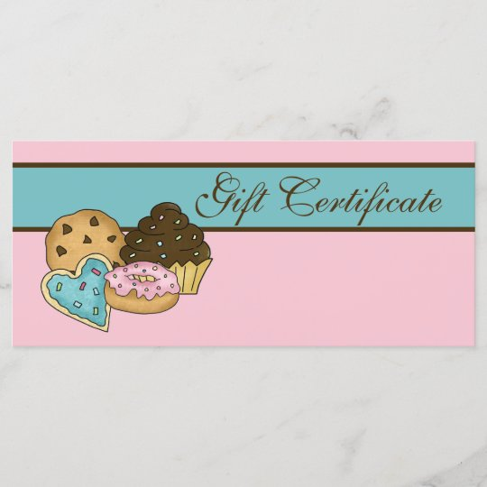 cake bakery gift certificate zazzle com