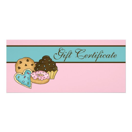 Cake bakery gift certificate zazzlecom for Zazzle gift certificate
