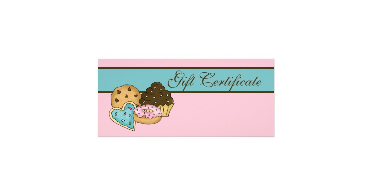 Cake Bakery Gift Certificate Zazzle