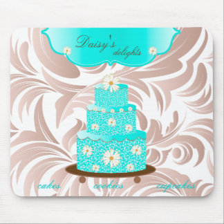 Cake Bakery Pastry Chef Daisy Blue Mouse Pad