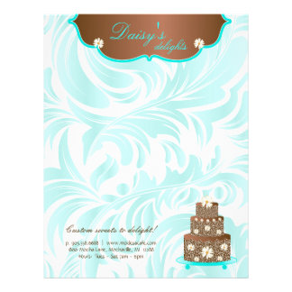 Cake Bakery Pastry Chef Daisy Chocolate Letterhead