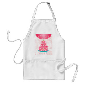 Cake Bakery Pastry Chef Daisy Pink Adult Apron