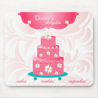 Cake Bakery Pastry Chef Daisy Pink Mouse Pad