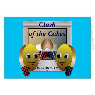 Cake Baking Contest Card