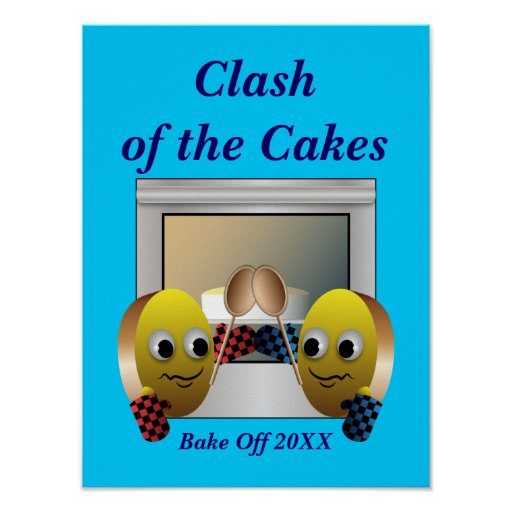 Cake Baking Contest Poster